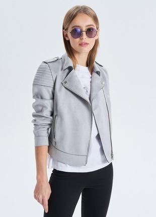 Новая женская замшевая демисезонная куртка косуха ветровка пид...
