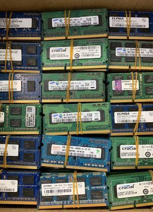 Оперативная память для ноутбука 2Gb DDR3 PC3 10600 1333MHz бу