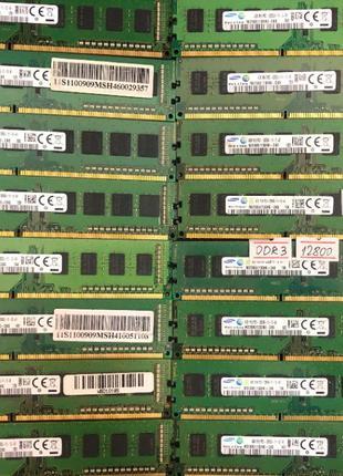 Оперативная память Samsung 4Gb DDR3 1R 1600 PC3 12800 ПК intel...