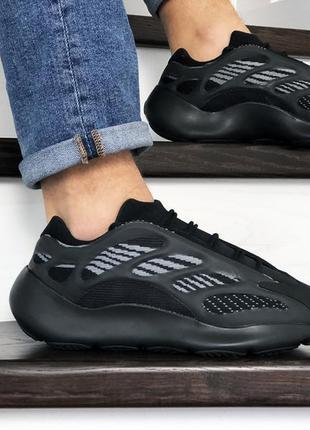 Прекрасные мужские кроссовки adidas yeezy boost 700 v3 чёрные
