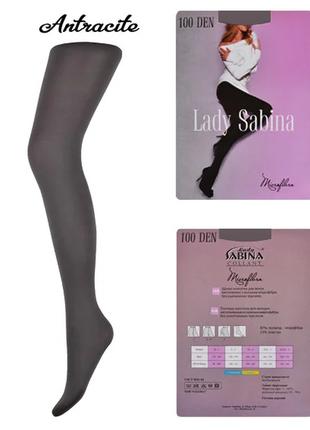 Колготки lady sabina 100 den microfibra antracite р.5, с уплот...