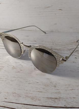Очки, женские зеркальные солнцезащитные очки.