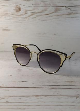 Очки кошечки, женские солнцезащитные очки.