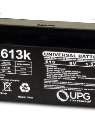 Аккумулятор UB613 6V, 1.3Ah, 1300mAh, F1 Terminal, AGM