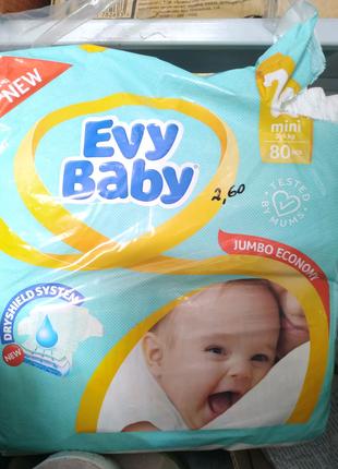 Подгузники Evy Baby 2-ка