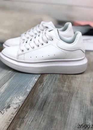 Удобные белые кеды, кроссовки