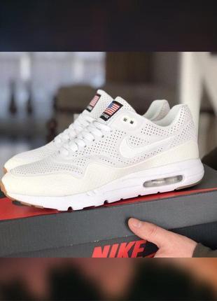 Мужские nike air max 1 ultra moire белые кроссовки размер 41-45