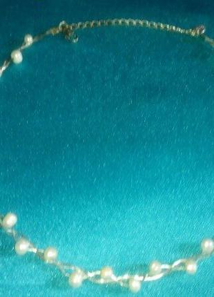 Ожерелье речной жемчуг. марка LBVYR