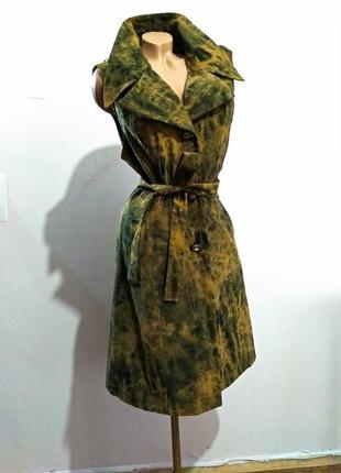 Платье жакет пиджак миди в стиле ретро винтаж на запах сукня м...