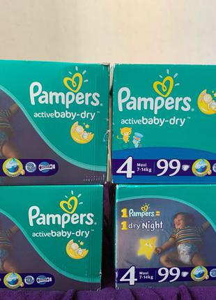 pampers active baby-dry 4 giant box 99шт
