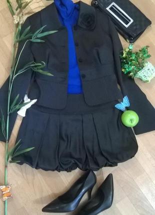 Костюм в офис необычный юбка жакет пиджак женский стиль в дета...