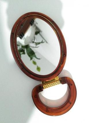 Зеркало на подставке ножке двухстороннее косметическое для мак...
