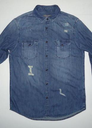 Рубашка джинсовая primark (m)