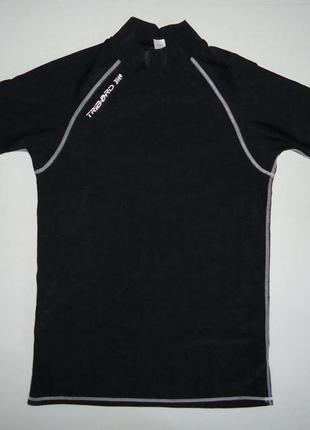 Гидрофутболка tribord upf40+ черная серфинг рафтинг xl