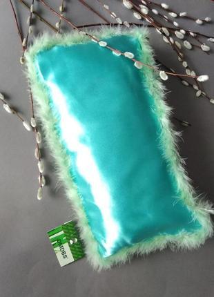 Мятная подушка в шелковой наволочке / можно в авто / подарок