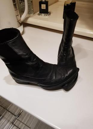 Натуральная кожа! ботинки казаки на меху