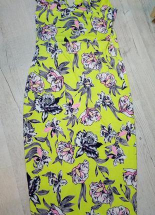 Платье длинное салатовое edge