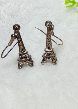Серьги эйфелева башня - серебро