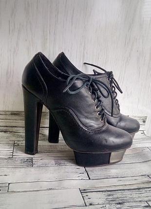 Туфли закрытые женские стелька 23 см 36 размер 13 см каблук та...