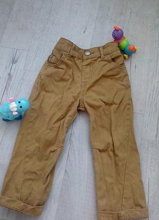 Коричневые горчичные штаны брюки на 18-24 мес 1,5-2 года