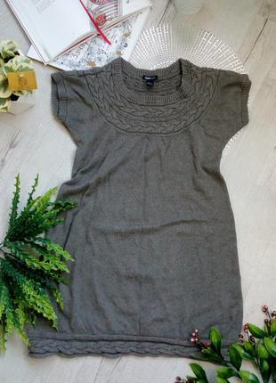 Теплая вязаная туника кофточка платье для беременных беременно...