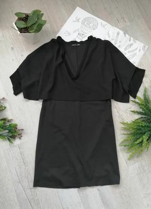 Вечернее черное платье интересного кроя zara
