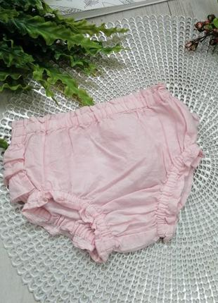 Трусики на памперс поверх с рюшами розовые  3-6 мес 100% котон