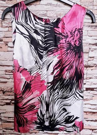 Яркая блуза 🔥🔥🔥 из атласного шелка р-14
