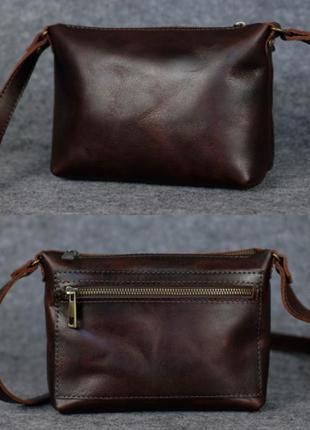 Женская небольшая сумка из натуральной кожи итальянский краст ...