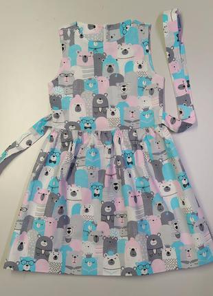 Распродажа хлопковых детских платьев, последние размеры.