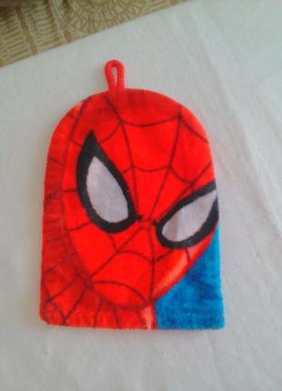 Мочалка рукавичка для купания spider man