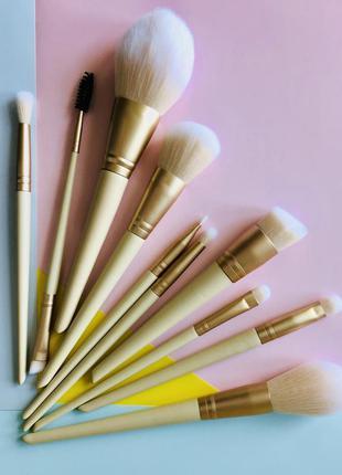 Набор кистей для макияжа 10 штук