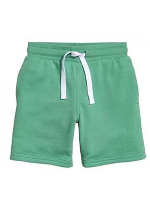 Шорты h&m на мальчика 116 см 5 - 6 лет хлопковые зеленые