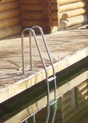 Лестница в бассейн,лестница,козырек,перила,поручень,велопарковка