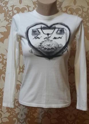 Классная белая футболка с рисунком для девочки 12 - 13 лет. si...