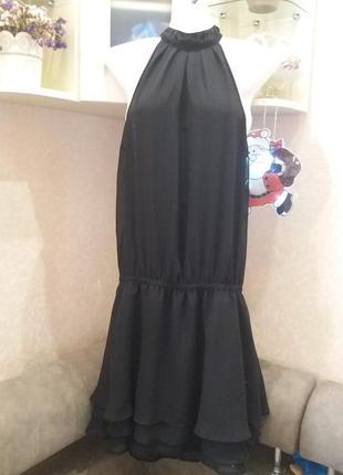 Платье с бантом с открытой спинкой--12 14 16р bonprix