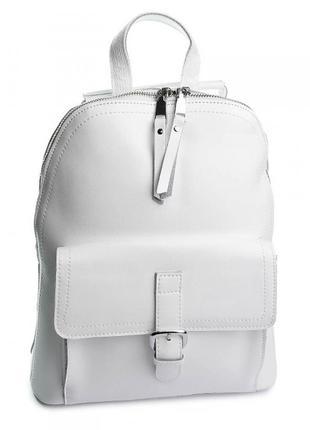 Женский кожаный белый рюкзак, сумка женская