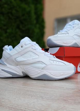 Классные мужские кроссовки nike m2k tekno белые