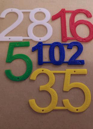 Пластиковые цифры