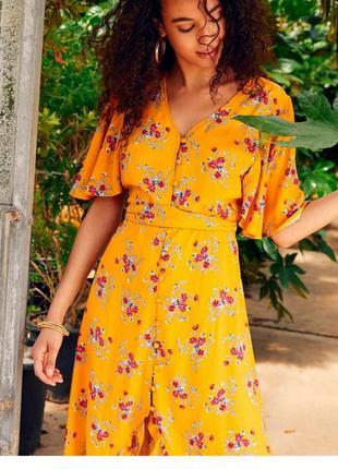 Летнее цветное платье сукня с воланами