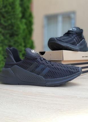 Стильные мужски кроссовки adidas climacool чёрные