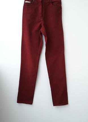 Джинсы мом mom бордовые джинсы xs