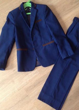 Школьный костюм mia-стиль на мальчика синий размер 122