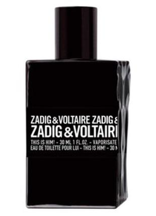 Zadig & voltaire this is him туалетная вода 50 мл