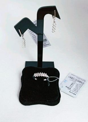 Комплект серебра 925-й пробы набор серебро кольцо серьги