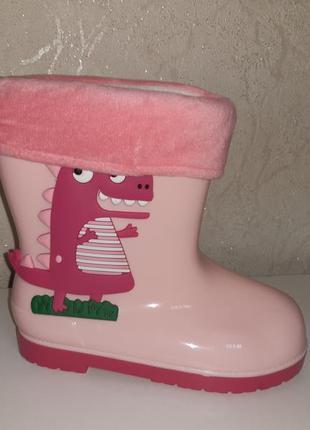 Резиновые сапоги на девочку 25-30 р bbt со сьемным носком