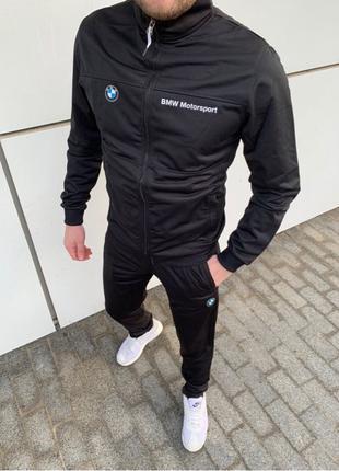 Puma спортивный костюм чёрный  BMW sport мужской