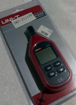 Цифровой термо гигрометр UNI-T UT333 RH: 0-100% -10 +60C