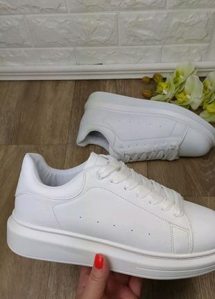 Стильные женские кеды кроссовки белые 😍