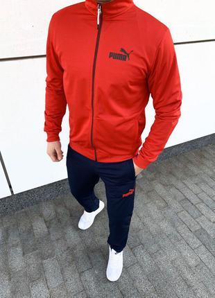 Puma мужской спортивный костюм красный пума